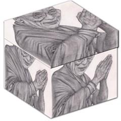 Dalai Lama Tenzin Gaytso Pencil Drawing Storage Stool 12   by KentChua