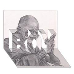 Dalai Lama Tenzin Gaytso Pencil Drawing Boy 3d Greeting Card (7x5) by KentChua