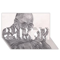 Dalai Lama Tenzin Gaytso Pencil Drawing #1 Mom 3d Greeting Cards (8x4)  by KentChua
