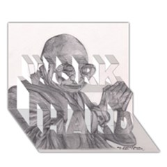 Dalai Lama Tenzin Gaytso Pencil Drawing Work Hard 3d Greeting Card (7x5)  by KentChua