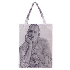 Alexander Mcqueen Pencil Drawing Classic Tote Bags by KentChua
