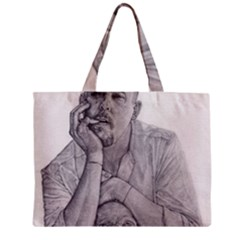 Alexander Mcqueen Pencil Drawing Zipper Tiny Tote Bags by KentChua
