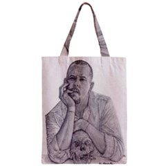 Alexander Mcqueen Pencil Drawing Zipper Classic Tote Bags by KentChua