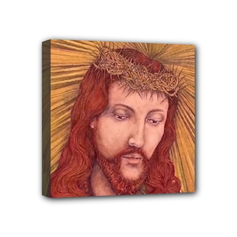 Sacred Heart Of Jesus Christ Drawing Mini Canvas 4  X 4  by KentChua