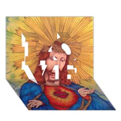 Sacred Heart Of Jesus Christ Drawing Love 3d Greeting Card (7x5)  by KentChua