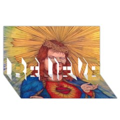 Sacred Heart Of Jesus Christ Drawing Believe 3d Greeting Card (8x4)  by KentChua