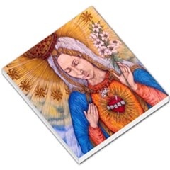 Immaculate Heart Of Virgin Mary Drawing Small Memo Pads by KentChua