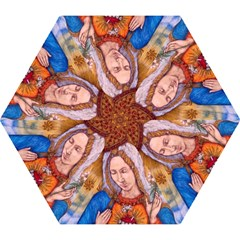 Immaculate Heart Of Virgin Mary Drawing Mini Folding Umbrellas by KentChua