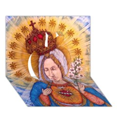Immaculate Heart Of Virgin Mary Drawing Apple 3d Greeting Card (7x5)  by KentChua