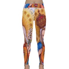 Immaculate Heart Of Virgin Mary Drawing Yoga Leggings by KentChua