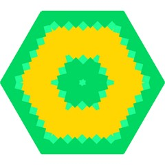 Green Rhombus Chains Umbrella by LalyLauraFLM