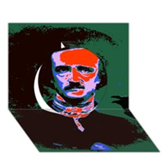 Edgar Allan Poe Pop Art  Circle 3d Greeting Card (7x5)  by icarusismartdesigns