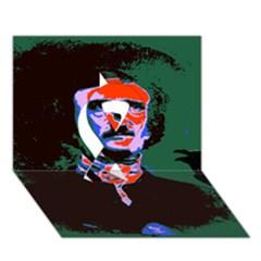 Edgar Allan Poe Pop Art  Ribbon 3d Greeting Card (7x5)  by icarusismartdesigns
