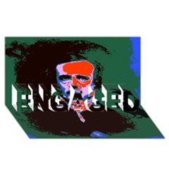 Edgar Allan Poe Pop Art  Engaged 3d Greeting Card (8x4)  by icarusismartdesigns