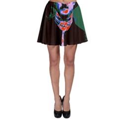 Edgar Allan Poe Pop Art  Skater Skirt by icarusismartdesigns