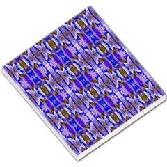 Blue White Abstract Flower Pattern Small Memo Pads by Costasonlineshop