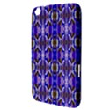 Blue White Abstract Flower Pattern Samsung Galaxy Tab 3 (8 ) T3100 Hardshell Case  View3