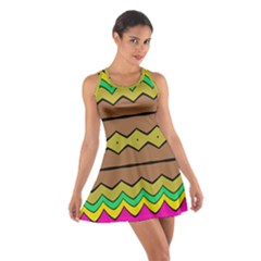 Rhombus And Waves Cotton Racerback Dress
