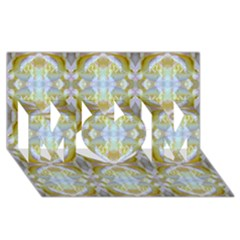 Beautiful White Yellow Rose Pattern Mom 3d Greeting Card (8x4)  by Costasonlineshop