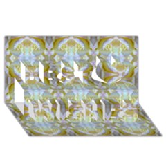 Beautiful White Yellow Rose Pattern Best Wish 3d Greeting Card (8x4)  by Costasonlineshop