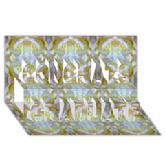 Beautiful White Yellow Rose Pattern Congrats Graduate 3d Greeting Card (8x4)  by Costasonlineshop