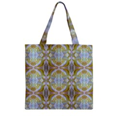Beautiful White Yellow Rose Pattern Zipper Grocery Tote Bags by Costasonlineshop