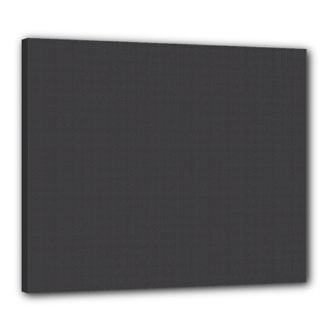 Carbon Fiber Graphite Grey And Black Woven Steel Pattern Canvas 24  X 20  by PaperandFrill