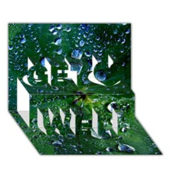 Morning Dew Get Well 3d Greeting Card (7x5)  by Costasonlineshop