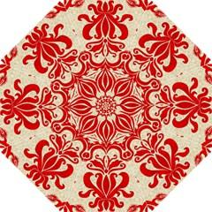 Ruby Red Swirls Golf Umbrellas by SalonOfArtDesigns