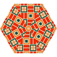 Squares And Rectangles In Retro Colors Umbrella by LalyLauraFLM