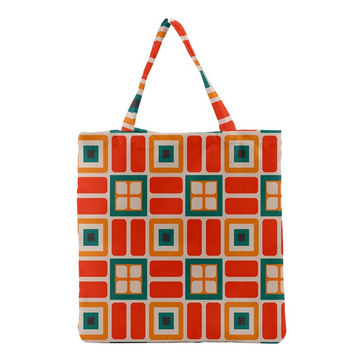 Squares and rectangles in retro colors Grocery Tote Bag