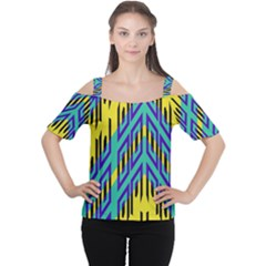 Tribal Angles Women s Cutout Shoulder Tee by LalyLauraFLM