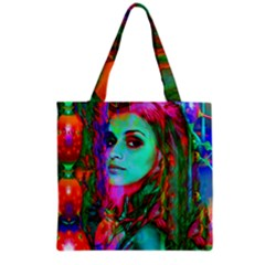 Alice In Wonderland Grocery Tote Bags by icarusismartdesigns