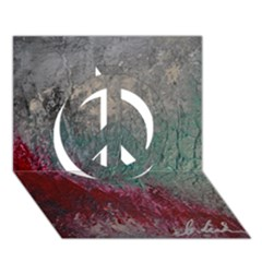 Metallic Abstract 1 Peace Sign 3d Greeting Card (7x5)  by timelessartoncanvas