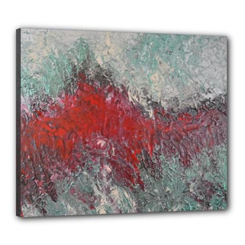 Metallic Abstract 2 Canvas 24  X 20  by timelessartoncanvas