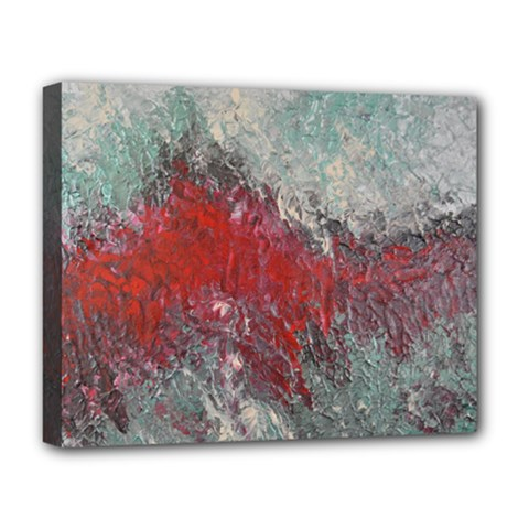 Metallic Abstract 2 Deluxe Canvas 20  x 16   by timelessartoncanvas