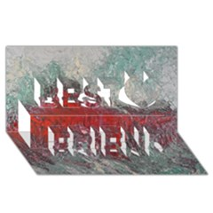 Metallic Abstract 2 Best Friends 3d Greeting Card (8x4)  by timelessartoncanvas