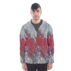 Metallic Abstract 2 Hooded Wind Breaker (men) by timelessartoncanvas