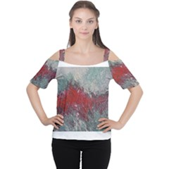 Metallic Abstract 2 Women s Cutout Shoulder Tee by timelessartoncanvas