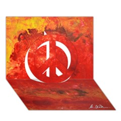Stone Wall Peace Sign 3d Greeting Card (7x5)  by timelessartoncanvas