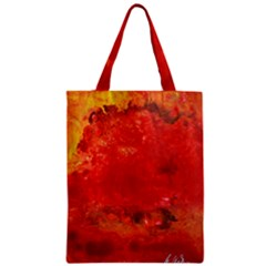 Stone Wall Zipper Classic Tote Bags by timelessartoncanvas