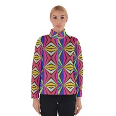 Connected Shapes In Retro Colors  Winter Jacket