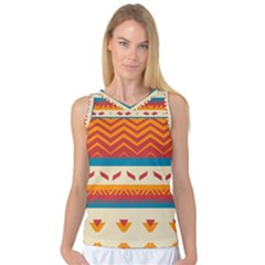Tribal shapes  Women s Basketball Tank Top by LalyLauraFLM