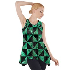 Triangle1 Black Marble & Green Marble Side Drop Tank Tunic