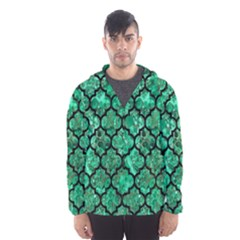 Tile1 Black Marble & Green Marble Hooded Wind Breaker (men) by trendistuff