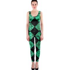 Square2 Black Marble & Green Marble Onepiece Catsuit by trendistuff
