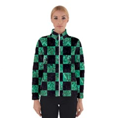 Square1 Black Marble & Green Marble Winter Jacket by trendistuff