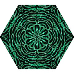 Skin2 Black Marble & Green Marble (r) Mini Folding Umbrella