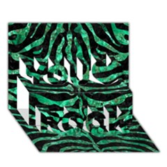 Skin2 Black Marble & Green Marble (r) You Rock 3d Greeting Card (7x5)
