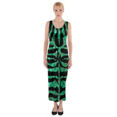 Skin2 Black Marble & Green Marble (r) Fitted Maxi Dress by trendistuff